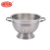 Stainless steel colander with strainer holes