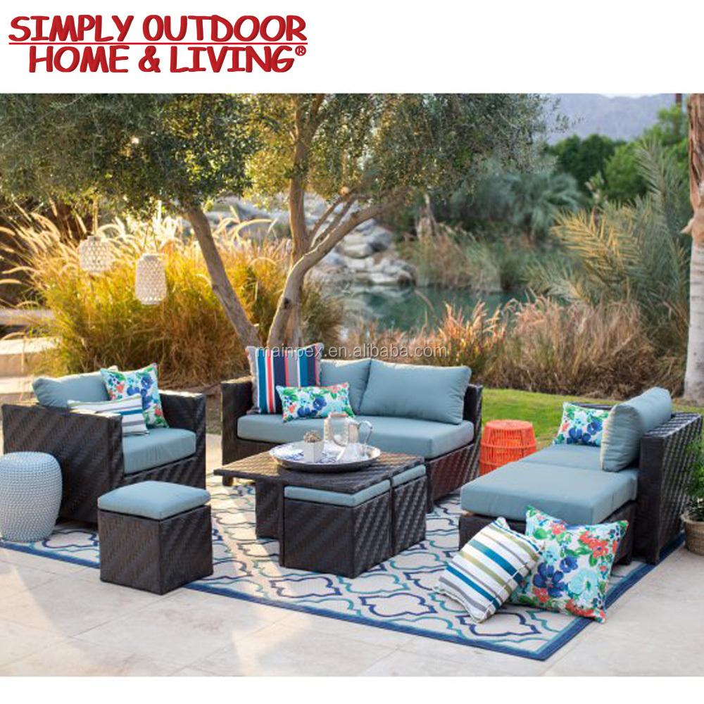 Modern Luxury Garden Pe Rattan Garden Furniture Lounge Sofa Set