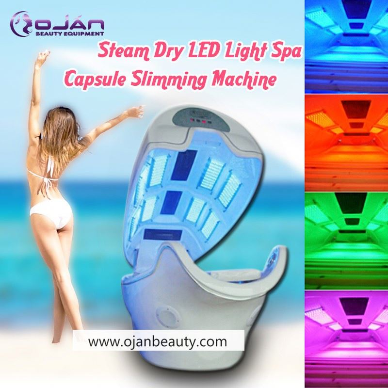 CE Photon 6 Lights 8 Pieces LED Far Infrared Sauna Capsule / Infrared Ozone Sauna Spa Capsule / Steam Sauna