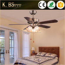 Simple Design Bedroom No Noise Orient Fan Lamp Plywood Blade 42 Inch Modern Style Decorative Ceiling Fan