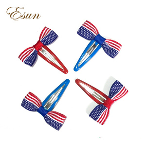 4th of July American Flag Design Snap Hair Clips
