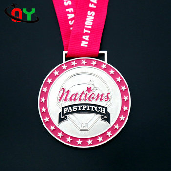 Custom Metal Zinc Alloy Die Casting China Soft Enamel Sports Medals And  Ribbons With No Minimum Order - Buy Custom Metal,Sports Medals And