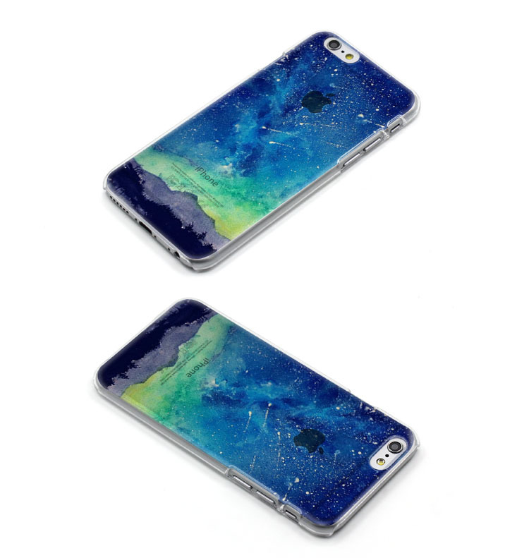 For iPhone 6 6s plus case S6 cover half transparent Harajuku starry much slim sky clear sides bustyle creative style
