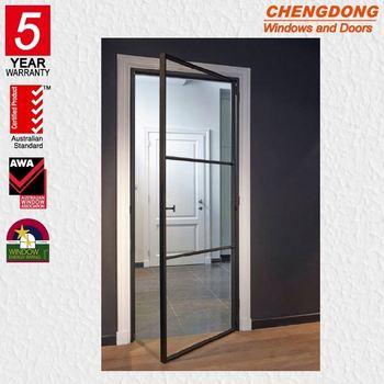 Popular Wood Iron Safety Door Designs Steel Door Gate Single And