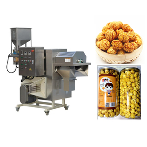 Continuous American Chocolate Industrial Commercial Hot Air Automatic Caramel Popcorn Machine