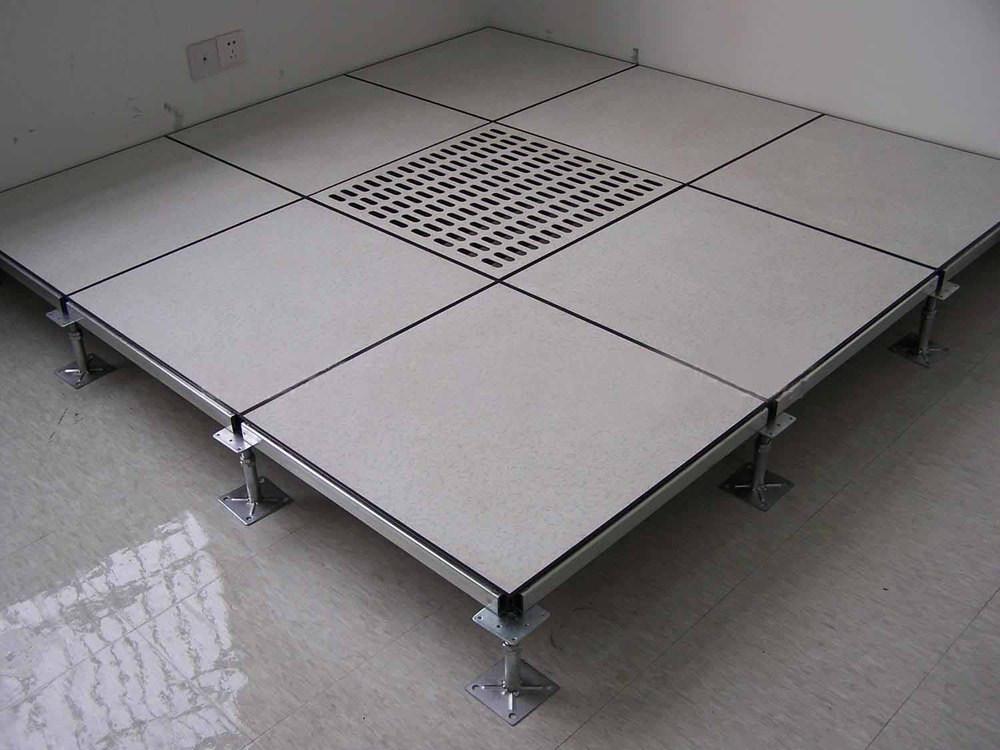 Ceramic tile steel infilled cement access floor panel for Elevated floor