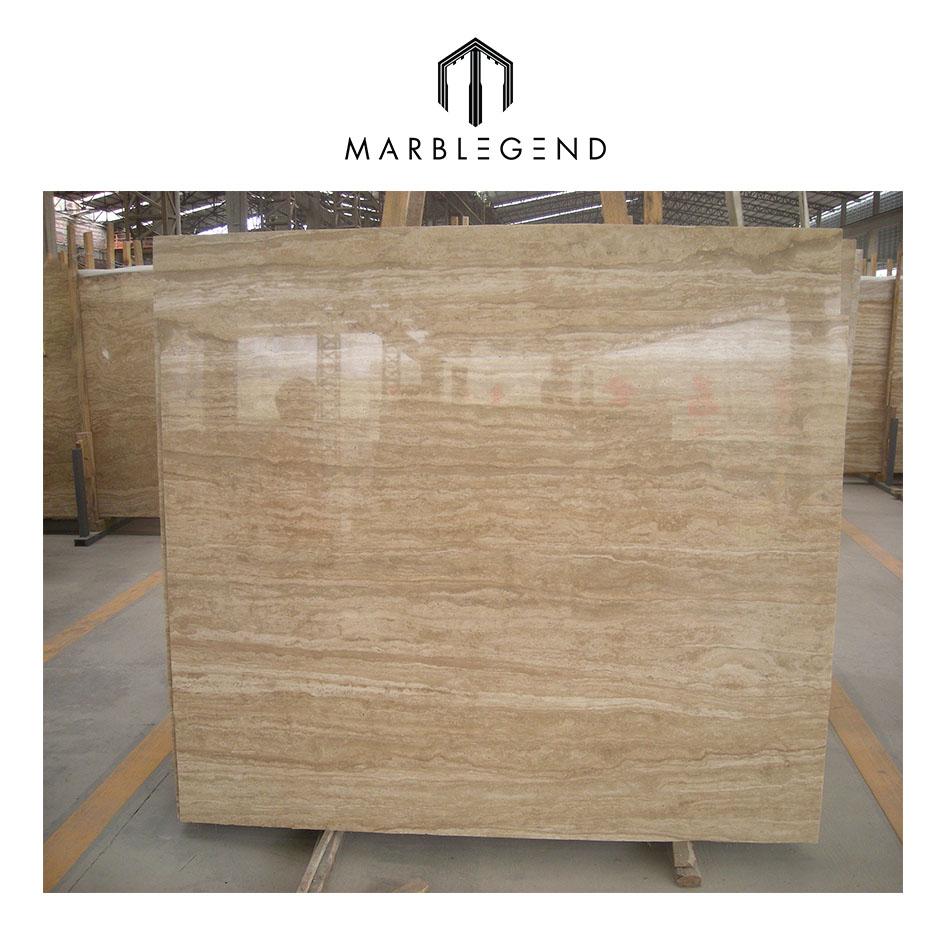 Natural Beige Travertine Marble Slab