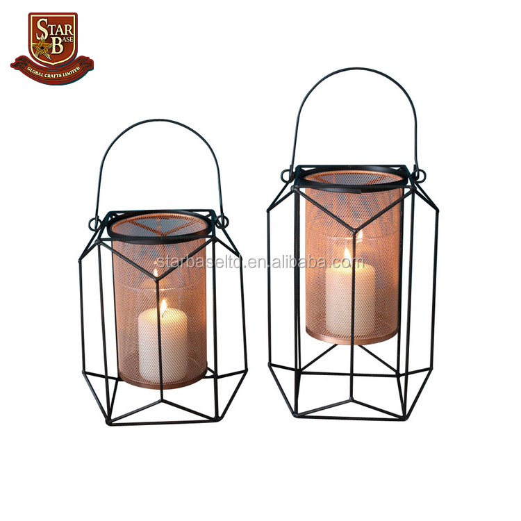 Wedding decorative hanging lantern metal European wall hanging votive candle holder