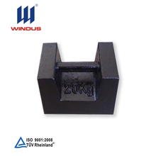 high quality customized 20kg cast iron block weights excavator test weight iron weights