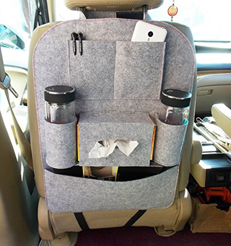 Hot Sale Hanging Back Seat Car Organizer With Laptop Holder