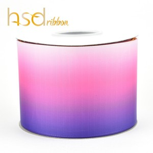 HSDRibbon Purple Rainbow digital printing grosgrain ribbon