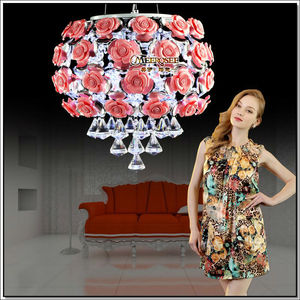 2013 Hot Sell Rose Flowers Crystal Hanging Lamp MD88022
