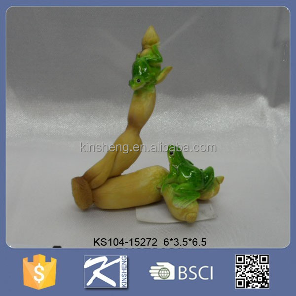 High Quality Cute Green Frog Figurines For Garden
