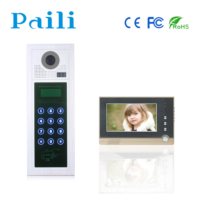 CAT5 Apartment video door phone intercom system with RFID unlock