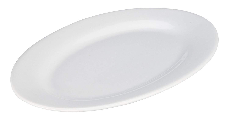 BIA Cordon Bleu 12-Inch Bistro Oval Platter, Set of 2, White