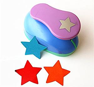 TECH-P Creative Life XXX-Large Shape Size 3-Inch(7.5cm) Multi-pattern Hand Press Album Cards Paper Craft Punch,card Scrapbooking Engraving Kid Cut DIY Handmade Hole Puncher,Paper Craft Punch. (Star)