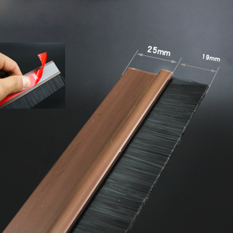 China 3M self-adhesive 20mm hair Custom Nylon cleaning Brush door Bottom Sweep
