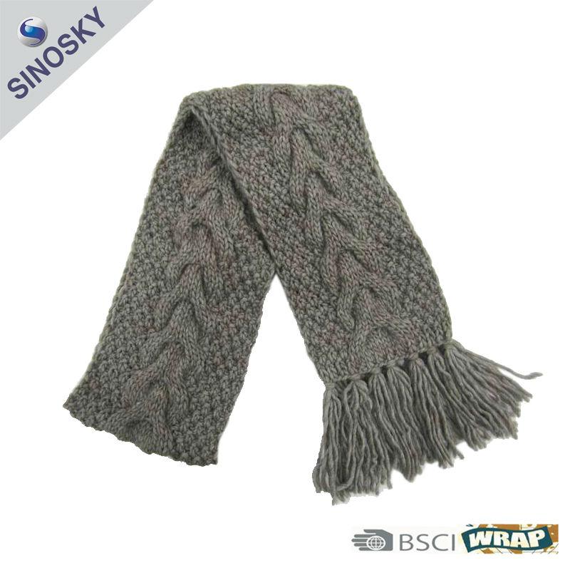 100% Acrylic Hand Knitting Muffler