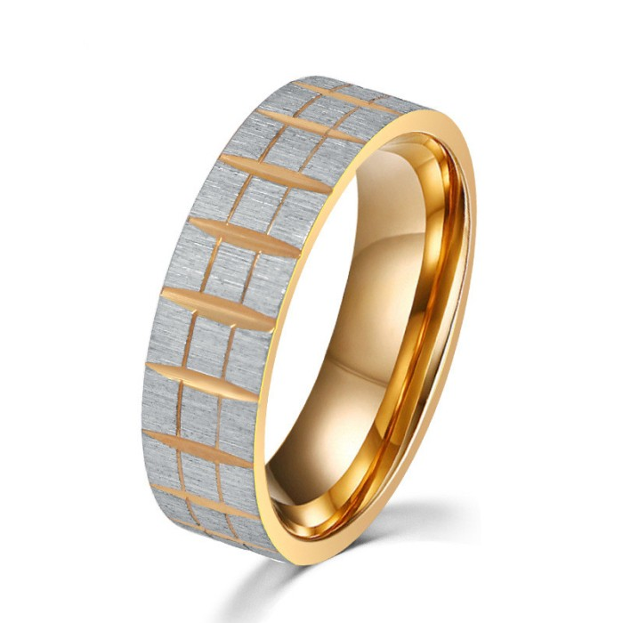 Latest design pattern engraving stainless steel gold ring designs