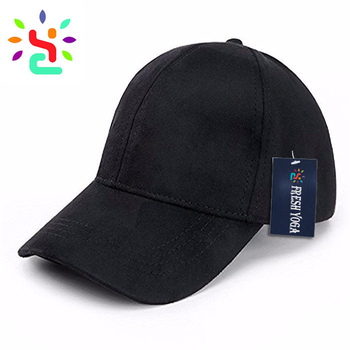 7ca0382a38e24 Wholesale black baseball cap suede 6 panel hat suede dad hats custom  embroidery baseball hats and