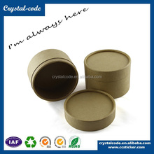Fashionable cylinder canister cardboard box kraft tube box for coffee packaging