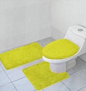 Get Quotations 3 Piece Bathroom Rug Contour And Lid Cover Set Hailey