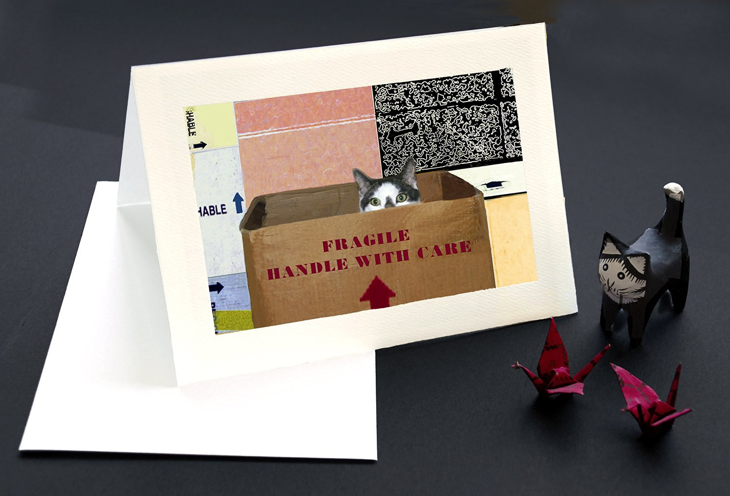 Buy Handle With Care Cat Greeting Cards Save On 10 Pack Friendship