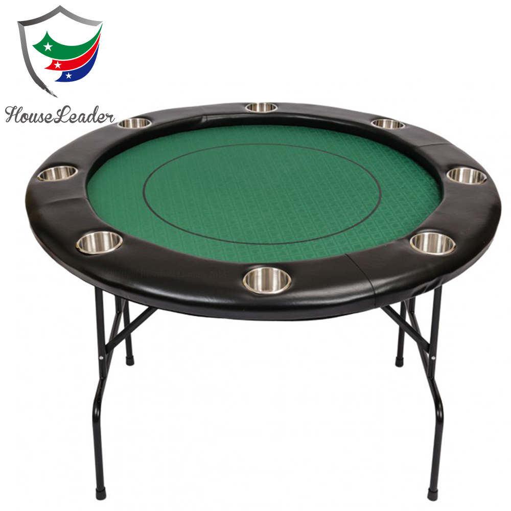 48 inch Professional Luxury Casino Wooden Cheap Custom Round Small Poker Table with Metal Folding legs for sale