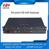 64 FXS port support sip phone intercom system voip gateway