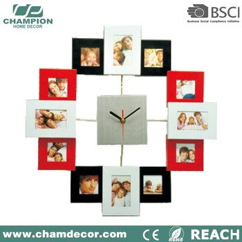 12 Months Baby Pretty Photo Frame With Clock12v Analog Wall Clock