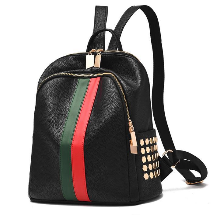 bolso mochila mochila bolsillo doble Pu cuero de rápido Bloqueo Yz7FXgq