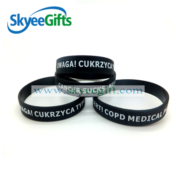 Cheap Price Custom Printing Silicone Wristband/Silicon Wrist Band/Silicon Bands