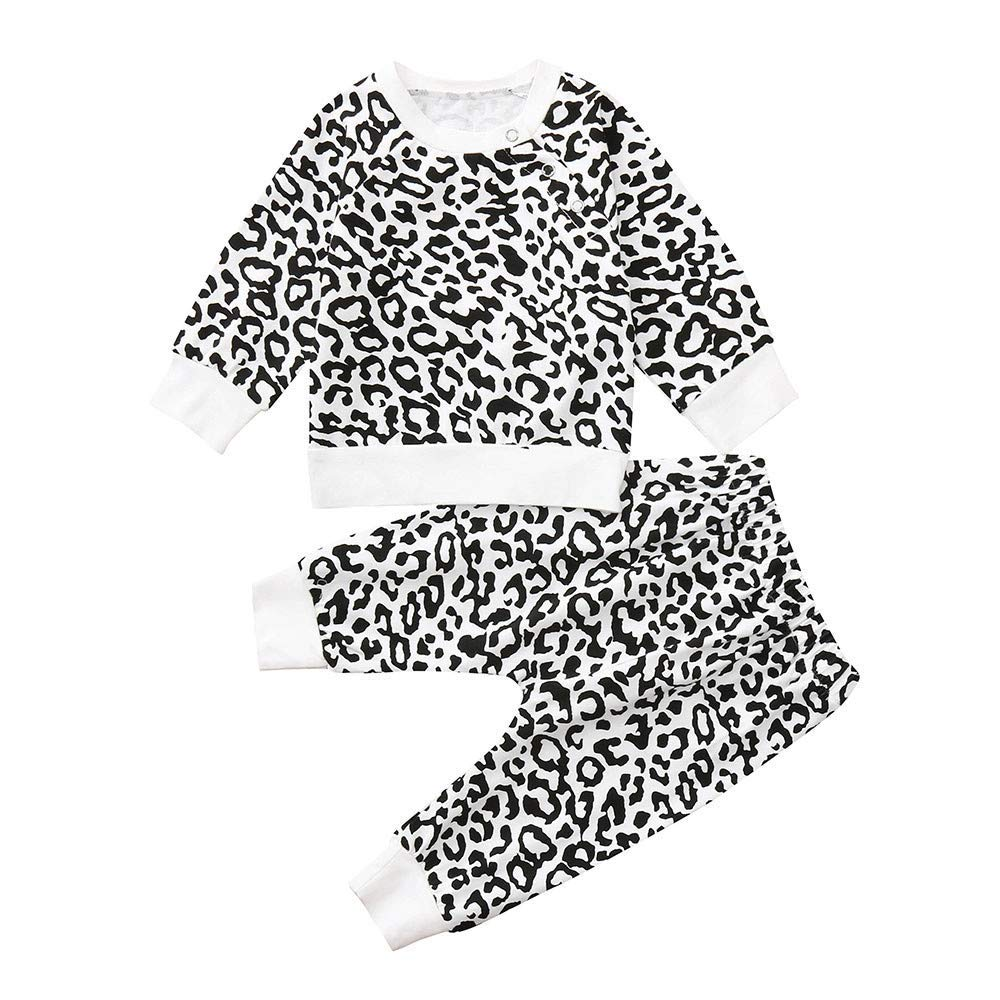 eccbb837a Get Quotations · Newborn Baby Boys Girls Hooded Pullover Sweatshirt T-Shirt  Tops+Pants Kids Outfits Clothes