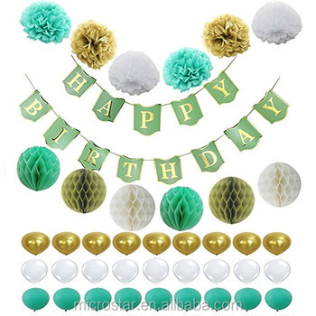 Amazon Sellers Hot Items Elegant 1st 18th 21th 30th 40th Happy Birthday Alphabet Banner Decoration For