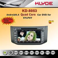 pure android 4.4 quad core car stereo dvd player with gps navigation dashboard camera mirror link review camera for SYLPHY 2012