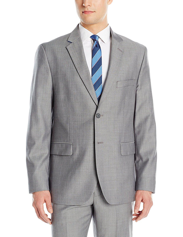 Nautica Men's Wool Rich Silver Herringbone Suit Separate Jacket
