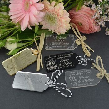 Engraved Acrylic Wedding Gift Tags/ Indian Wedding Gifts for Guests