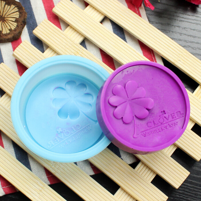 Handmade Silicone Soap Mould Four Leaf  Clover Cake Baking Mold