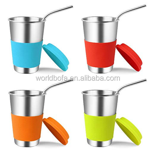 Eco-Friendly Stainless Steel Drinking Tumblers Cups with Lids