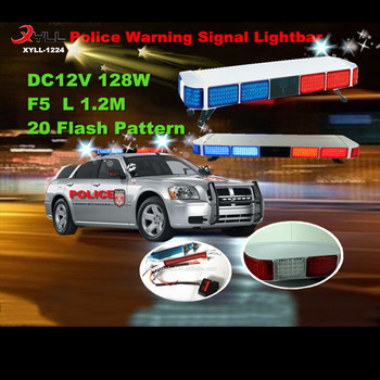 Dc12v 128w police amber led strobe light barpolice led warning dc12v 128w police amber led strobe light bar police led warning signal light emergency aloadofball Image collections