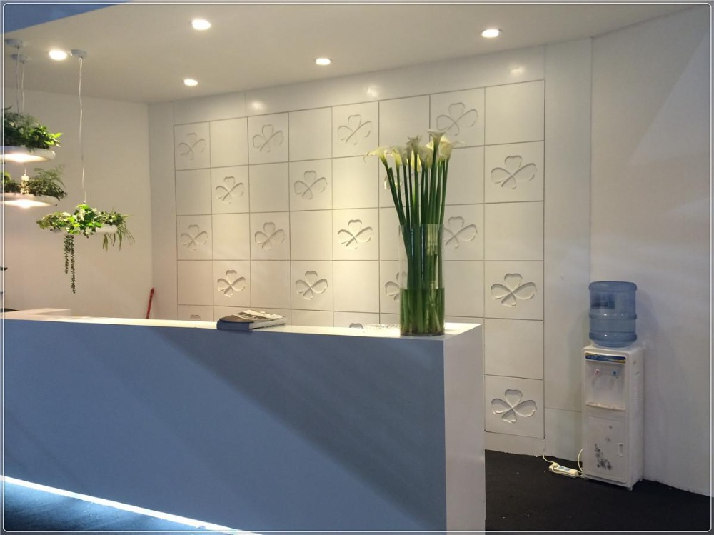 Solid surface indoor fitment material interior trim solid for Solid salon