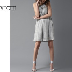 embellished knitted fit and flare dress women fashion dress custom dress