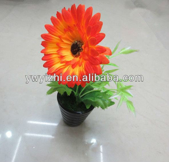 Small Artificial Flowers Sunflower Pieces Handmade Nylon Potted ...