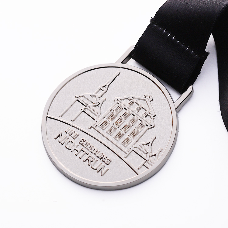2d professional design custom  sliver souvenir metal medal for organization