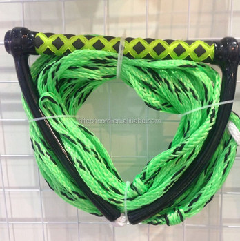 1/2'' Green Color PE material Braided Water Ski Rope with printed handle