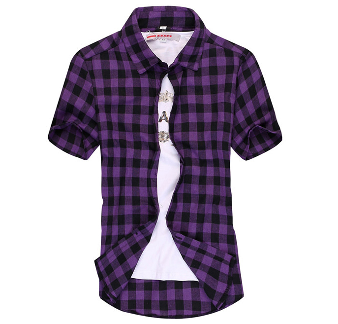 Buy New 2015 Casual Men Plaid Flannel Shirt Slim Fit Long Sleeve ...