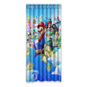 "VIASHOW Custom Personalized Super Mario Bros Blackout Window Curtains/drape/panels/treatment 50""x108""(one piece)"