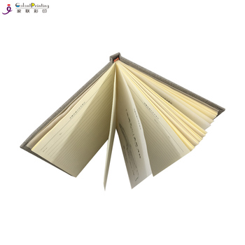 Linen Book Printing Cloth Fabric Custom Hardcover Journal Notebook
