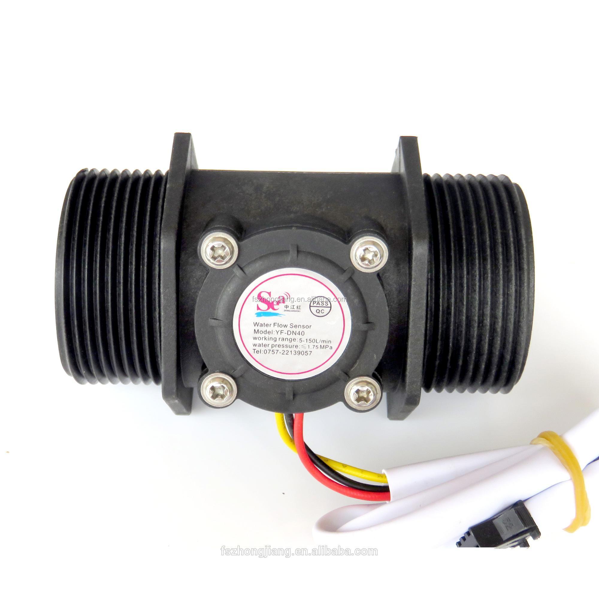 """4 /""""Wasserdurchflusssensor Durchflussmesser Zähler Halleffekt Schalter G1"""