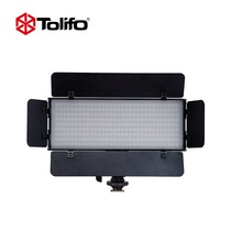 Tolifo Portable PT-30B PRO II 30w Ultra Thin Dimerable Photography Video Studio Camera Panel LED Light with Barn door